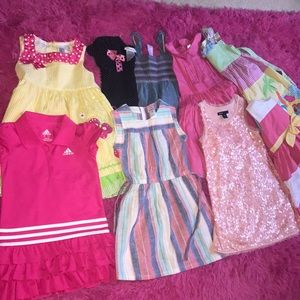 Lot of girls Sz 4 dresses! 9 total!!!